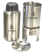 Pathfinder Stainless Bottle Cup/Stove Set