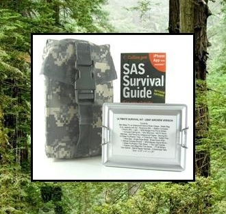 ultimate survival kit, bag and sas survival book